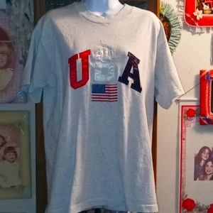 Red, White & Blue USA T with Flag